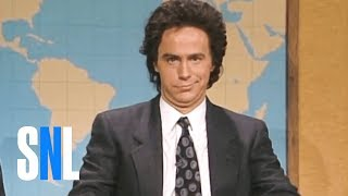 Dennis Miller discusses how he would welcome Gary Hart back into the presidential race, followed by and opposing viewpoint from Dennis Miller (Dana Carvey) on why Gary Hart shouldn't be forgiven. [Season 13, 1988]Weekend Update Summer Edition, Thursday, August 10, live, at 9/8c on NBC. Get more SNL: http://www.nbc.com/saturday-night-liveFull Episodes: http://www.nbc.com/saturday-night-liv...Like SNL: https://www.facebook.com/snlFollow SNL: https://twitter.com/nbcsnlSNL Tumblr: http://nbcsnl.tumblr.com/SNL Instagram: http://instagram.com/nbcsnl SNL Pinterest: http://www.pinterest.com/nbcsnl/