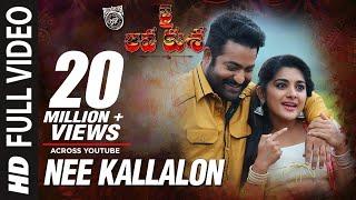 image of NEE KALLALONA Full Video Song - Jai Lava Kusa Video Songs - Jr NTR, Nivetha Thomas | Devi Sri Prasad