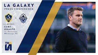 LA Galaxy head coach Curt Onalfo shares his thoughts with the media following the team's 1-0 loss vs. Vancouver Whitecaps.Want to see more from the LA Galaxy? Subscribe to our channel at http://www.youtube.com/LAGalaxy.Facebook: http://www.facebook.com/lagalaxyTwitter: http://www.twitter.com/lagalaxyWant to check out a game? Visit http://www.lagalaxy.com to view upcoming matches and purchase tickets!
