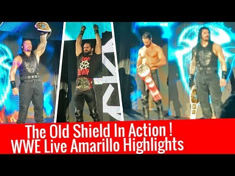 The Old Shield In Action ! WWE Live Amarillo Highlights 1/12/2018 12 January 2018 Roman & Rollins