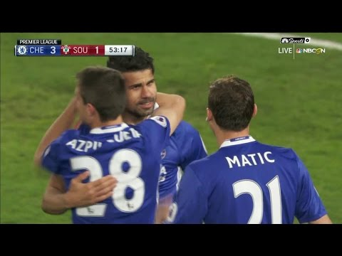 Video: Diego Costa extends Chelsea's lead over Southampton