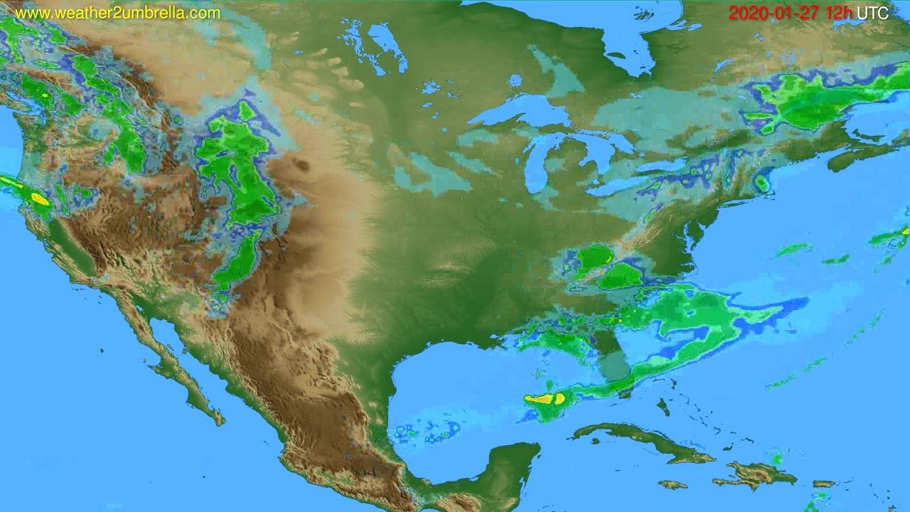 Radar forecast USA & Canada // modelrun: 00h UTC 2020-01-27