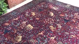 فرش تبریز طرح حیوانات - فرش ایران