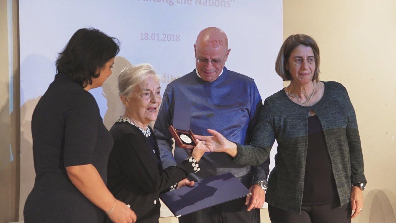 Τελετή Βράβευσης στο Εβραϊκό Σχολείο για τους Έλληνες Ηρώες που διέσωσαν την Delia Ferro Cohen