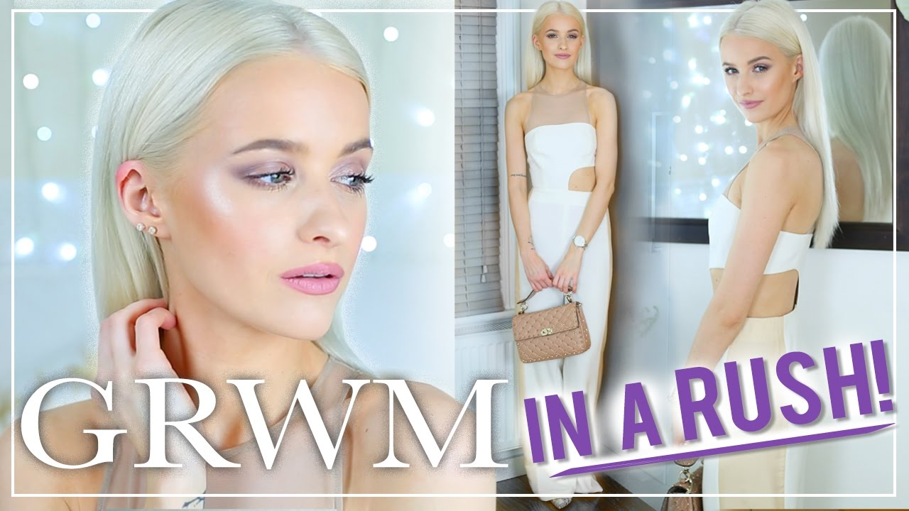 GET READY WITH ME: Glam Event Makeup IN A RUSH - Makeup Tutorial, hair and outfit!