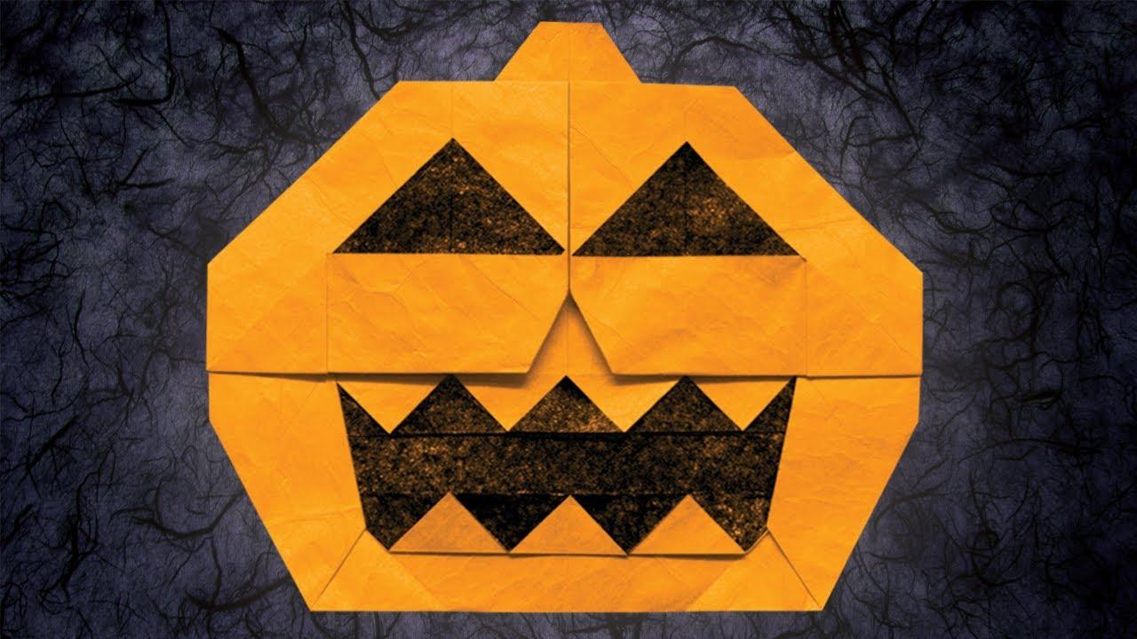Origami Jack-o'-Lantern (Jun Maekawa)