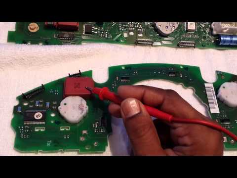 Part 3/5 Mercedes S-Class W220 Instrument Cluster Repair