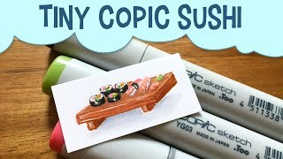 Tiny Copic SushiThe last time I made a miniature food drawing using copic sketch markers, I asked for suggestions on what to make next! After several requests to draw kawaii sushi with copic markers, I decided to give it a go! For more miniature food art copic marker drawings, check out my tiny food drawing playlist here: https://www.youtube.com/playlist?list=PLDBcpqbLoA6d3z0-PVqjgpYs0h25WCUUjSubscribe to peer into a day in the life of a freelance illustrator, and share if you care! :)Thumbs up if you enjoyed watching this tiny sushi drawing, and let me know if you have ideas for more miniature copic marker food art in the future!------------------------------------------------------------------------------------------Art Materials Used in This Video: Paper: https://www.amazon.com/gp/product/B000J0C47S/ref=as_li_tl?ie=UTF8&camp=1789&creative=9325&creativeASIN=B000J0C47S&linkCode=as2&tag=pigknit-20&linkId=e4cd035a0224c1a0446c2703e983d794Gelly Roll gel pen in white: https://www.amazon.com/gp/product/B00CF5R57Y/ref=as_li_tl?ie=UTF8&camp=1789&creative=9325&creativeASIN=B00CF5R57Y&linkCode=as2&tag=pigknit-20&linkId=0ea5af48bd3ed91854950efe9a964c92Copic Sketch Markers: https://www.amazon.com/gp/product/B004XR96UG/ref=as_li_tl?ie=UTF8&camp=1789&creative=9325&creativeASIN=B004XR96UG&linkCode=as2&tag=pigknit-20&linkId=d65f72e9da5996590b23d41dce33b06aStaedtler Fineliner Colored Pens: https://www.amazon.com/gp/product/B00016XNT8/ref=as_li_tl?ie=UTF8&camp=1789&creative=9325&creativeASIN=B00016XNT8&linkCode=as2&tag=pigknit-20&linkId=eb166064530686264a18cc1ef2011242------------------------------------------------------------------------------------------Filming Equipment Used:Canon Powershot S110: https://www.amazon.com/gp/product/B009B0MYSQ/ref=as_li_tl?ie=UTF8&camp=1789&creative=9325&creativeASIN=B009B0MYSQ&linkCode=as2&tag=pigknit-20&linkId=61eb3228c57da1bd4d00fcc98809a720Manfrotto Mini Tripod: https://www.amazon.com/gp/product/B00GUND8XM/ref=as_li_tl?ie=UTF8&camp=1789&creative=9325&creativeASIN=B00GUND8XM&linkCode=as2&tag=pigknit-20&linkId=0606a7ba650f0ff2862dc287e3459864Blue Snowball Microphone:https://www.amazon.com/gp/product/B006DIA77E/ref=as_li_tl?ie=UTF8&camp=1789&creative=9325&creativeASIN=B006DIA77E&linkCode=as2&tag=pigknit-20&linkId=573fe459c7397c6e3b9adaa488738209------------------------------------------------------------------------------------------Background Music: https://soundcloud.com/alcaknight/andante-in-chttps://soundcloud.com/stefanpizzo/dont-throw-that-away-background-music------------------------------------------------------------------------------------------Etsy:  https://www.etsy.com/shop/pigknitwww.pigknit.comFacebook: https://www.facebook.com/pigknit/Twitter: https://twitter.com/pigknitTumblr: https://www.tumblr.com/blog/pigknitInstagram: @pigknitSnapchat: PigknitThanks for watching!