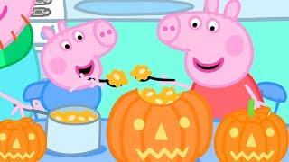 Peppa Pig Official Channel 🎃 Making a Pumpkin Lantern with Peppa and George   Halloween Special 🎃