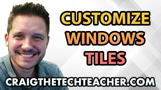 """This video is brought to you by: http://www.craigthetechteacher.com - Whether you love or hate them the Windows 10 start menu tile shortcuts are here to stay. These shortcuts can be rearranged, resized and categorized to your liking.Many people find the tile shortcut system useful if they a bit of time is dedicated to organizing the tile system. Windows 10 gives you alot of screen real estate to do this and it's mostly popular for users who have a touch screen monitor on their computer, desktop or tablet.You can also disable what are called """"live tiles"""" - the tiles that regularly update themselves with videos, news articles or animations."""