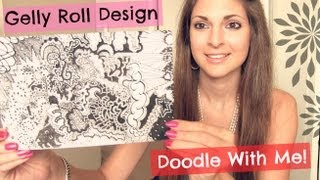 DOODLE WITH ME : Gelly Roll Design // Abstract Drawing - TIme Lapse | SoCraftastic