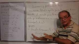 Algebra Intermedia - Lección 31 - A (ecuaciones Literales, Ecuaciones Fraccionarias)