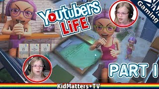 """Join Roxy on a day in a Youtuber's life, trying to get so many subscribers, singing her heart out, working, and networking!Quite a fun Simulation game. :DWhat's YouTubers Life?per wikipedia:""""Youtubers Life is a life simulation game with business simulation elements, and influences from the Game Dev Tycoon and The Sims video games. The player has to manage a character trying to build a career as a YouTube personality. In addition to managing the creation of videos for their channel, the player must also manage the character's education and social life. As the character develops, the player also must manage the character's employees and growing content network. Opportunities to create videos for friends, creating videos through advertising agreements, and the revenue generated by each video's ads enable the character to purchase upgrades to their equipment and housing, and access resources to level up their character's skills""""No official ESRB rating.Common Sense Media recommends 13+. Our kids enjoy tinkering around with it. Quite a lot of dialogue/details to read with more complex juggling to go further in the game so 10+/13+ definitely seems to be the range.Thanks for Watching another fun family friendly video! See you in the next video!!!https://www.youtube.com/c/KidMattersTVSubscribe for more, it's FREE! And Never Miss a video by Hitting that Bell Icon!▶︎https://www.youtube.com/c/KidMattersTV?sub_confirmation=1Watch More, from our Various Playlists:▶︎https://www.youtube.com/c/kidmatterstv/playlistsFollow Us On Social Media:▶︎Twitter: https://twitter.com/KidMatters_TV▶︎Facebook: https://www.facebook.com/kidmatterstv/▶︎Instagram: https://www.instagram.com/kidmatters_tv/Open Source Software we use:OBS Studio: https://obsproject.comGIMP (GNU Image Manipulation Program): https://www.gimp.orgBlender (3D graphics and video editing): https://www.blender.orgAudacity: https://www.audacityteam.orgHandbrake: https://handbrake.frOpenShot Video Editor: https://www.openshot.orgAb"""