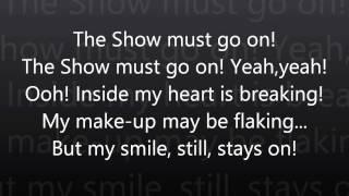 Video The Show Must Go On-Queen Lyrics (HD) MP3, 3GP, MP4, WEBM, AVI, FLV April 2018