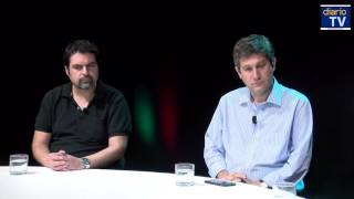 Felipe Pozo conversa con Aldo Cassinelli y Roberto Santa Cruz