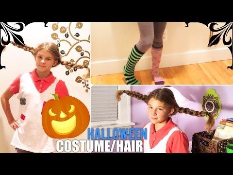 DIY Pippi Longstocking Halloween Costume/Hair Tutorial