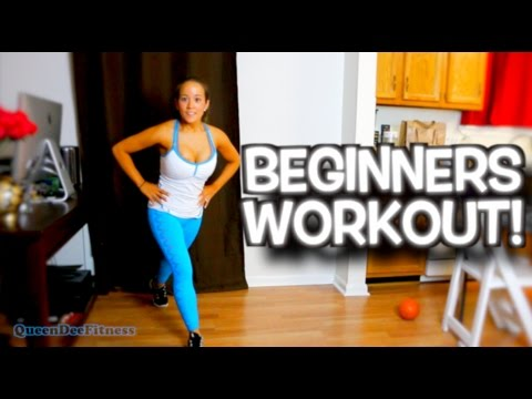 At Home Workout for Beginners! ► QueenDeeFitness