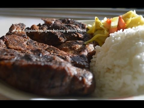 Lutong Pinoy - http://www.filipino-recipes-lutong-pinoy.com - Visit our website for more free Filipino Recipes and Lutong Pinoy Here the ingredients of our Beef Tapa Homema...