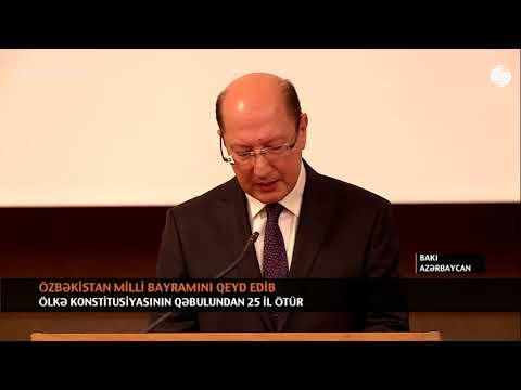 ÖZBƏKİSTAN MİLLİ BAYRAMINI QEYD EDİB (видео)