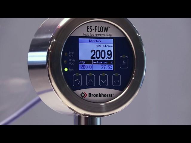 ES-FLOW ultrazvukový průtokoměr s ventilem a čerpadlem