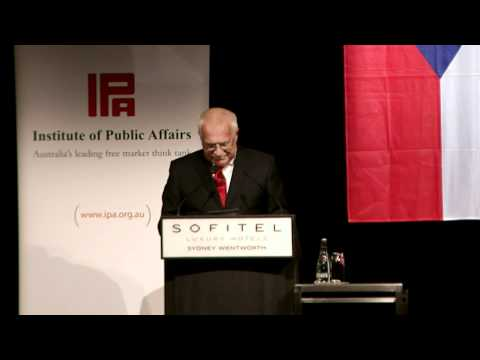 Czech President Vaclav Klaus, 2011 Australian Tour - Introduction by 2GB's Alan Jones.
