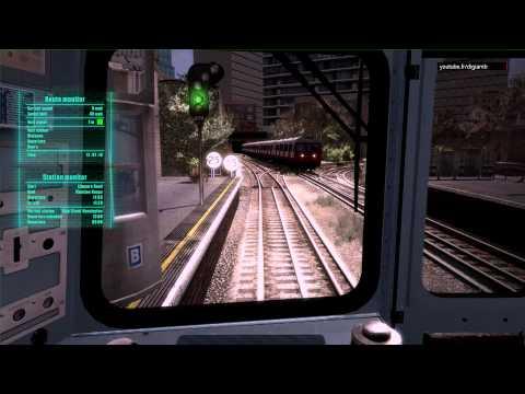 World of Subways 3 London Circle Line - Edgware Road / Mansion House (видео)