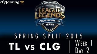 LCS NA Spring 2015 - W1D2 - TL vs CLG