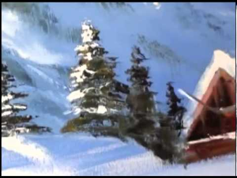 Lektion Malerei Igor Sacharow Winter Theme Russische Bob Ross On