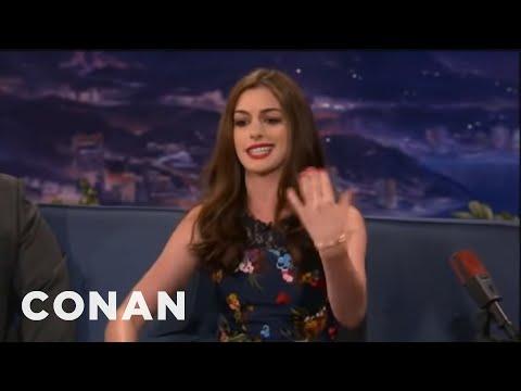 Anne Hathaway\'s Lil\' Wayne Style Paparazzi Rap - Conan on TBS