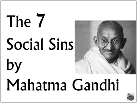 Mahatma Gandhi Seven Social Sins | Motivational Video