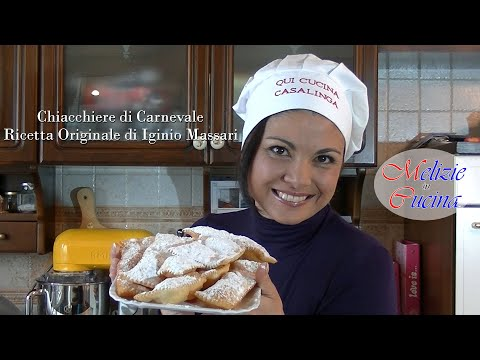 Chiacchiere di Carnevale - Ricetta Originale di Iginio Massari видео
