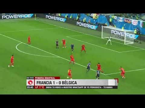Primera Semifinal: Francia 1-0 Bélgica