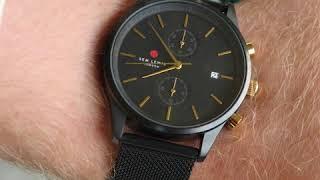Sem Lewis Metropolitan Northwick Park chronograph men's watch black/black