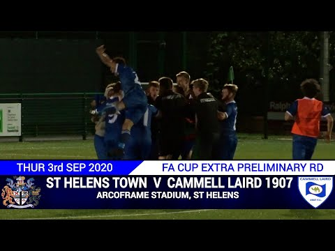 St Helens Town Vs Cammell Laird (03.09.20) FA Cup Extra Preliminary Round