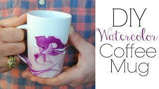 Easy DIY Gifts - Watercolor Coffee Mugs - YouTube