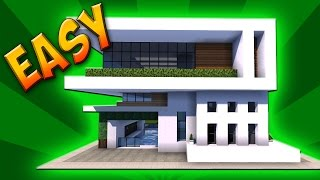 Minecraft: How To Build A Small Modern House Tutorial ( Easy )