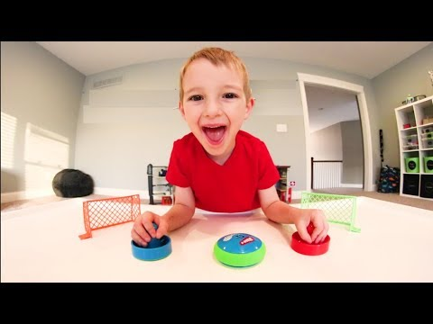 Father & Son PLAY AIR HOCKEY GAME! / So Much Fun!