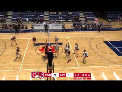 2015 CIS Women's Volleyball Championship QF 2: Laval vs Trinity Western