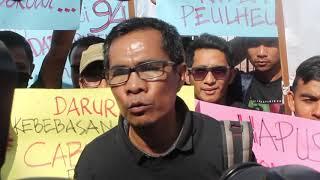 Video Jurnalis Aceh Kecam Remisi Pembunuh Jurnalis di Bali