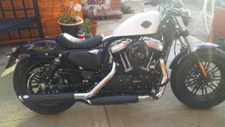 7. Very LOUD Harley davidson  XL1200X sportster 48 2017 (with vance hines slip ons)