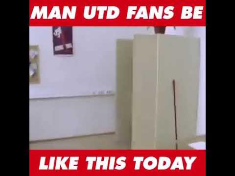 Manchester United fans hiding