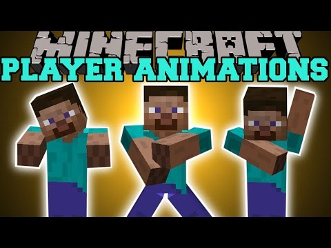 Minecraft: PLAYER ANIMATIONS (AIR GUITAR, GANGNAM STYLE, EXORCIST!) Mod Showcase