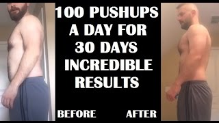 Video 100 Pushups A Day For 30 Days CHALLENGE - Results MP3, 3GP, MP4, WEBM, AVI, FLV Februari 2019