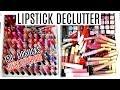 HUGE LIPSTICK DECLUTTER || Decluttering My Makeup Collection 2017