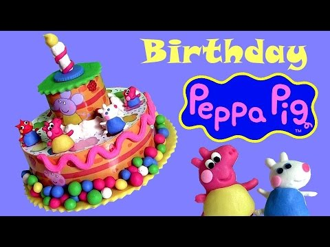 Play Doh Peppa Pig Birthday Cake Dough set Torta de Cumpleaños  Bolo de Aniversário Disney Collector