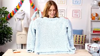 In this fashion-forward knitting class, learn how to hand-stitch a modern, chunky sweater. Knitting expert and co-founder of Wool and The Gang, Jade Harwood, walks you through completing the pattern they designed exclusively for Good Housekeeping in this step-by-step video. From the pages of the magazine, straight to your closet—Jade teaches you how to knit and join together all of the pieces for your own cozy creation.FREE Downloadable Pattern: https://goo.gl/KZvOdo