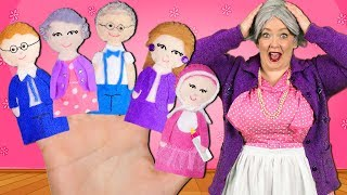 Finger Family Song - Extended Family! Daddy Finger Nursery Rhyme with Grandma and Grandpa