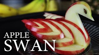 How to Make an Edible Apple Swan! - YouTube