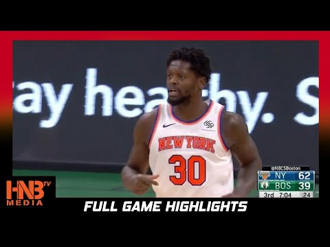 NY Knicks vs Boston Celtics 1.17.21 | Full Highlights
