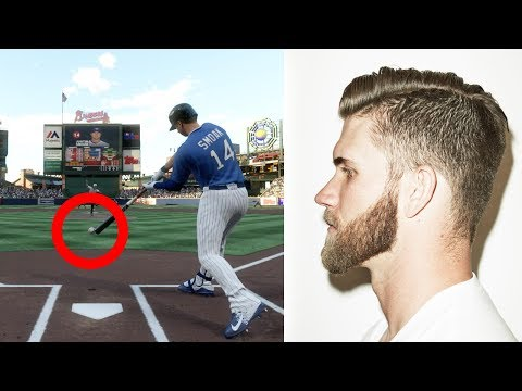 If I Lose I Have To Get The Bryce Harper Haircut! MLB The Show 17 Challenge (видео)